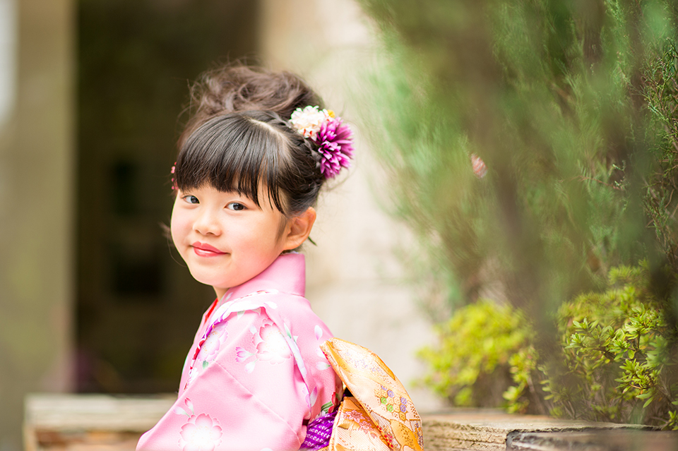 7歳の女の子の七五三・椎名トモミ